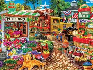 Собирать пазл Farmer's market онлайн