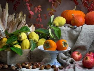 Собирать пазл Fruits and vegetables онлайн