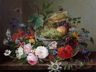 Собирать пазл Fruit in a vase онлайн