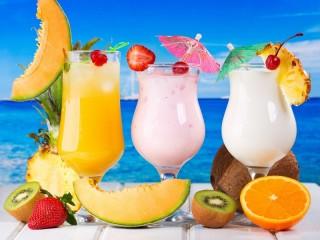 Собирать пазл Fruit smoothies онлайн