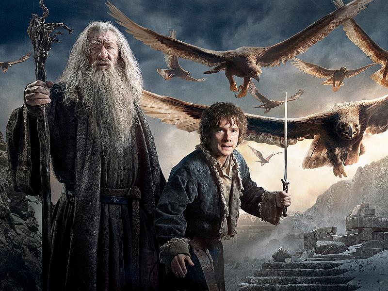Puzzle Sammeln Puzzle Online - Gandalf and Bilbo