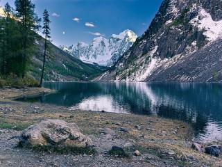 Собирать пазл Mountain lake онлайн