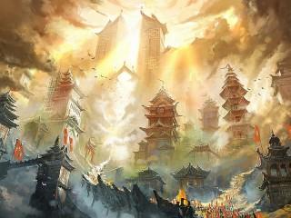 Собирать пазл City in the clouds онлайн