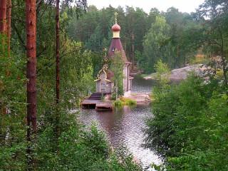Собирать пазл The temple on the lake онлайн