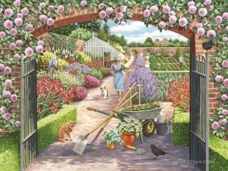 Собирать пазл The gate to the garden онлайн