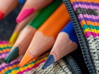 Собирать пазл Pencils in a pencil case онлайн