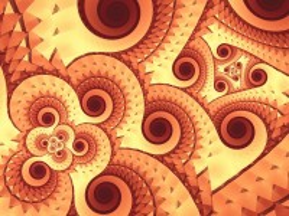 Собирать пазл Brown spiral онлайн