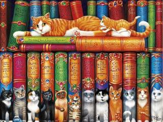 Собирать пазл Koshachya biblioteka онлайн