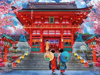 Собирать пазл Red temple онлайн