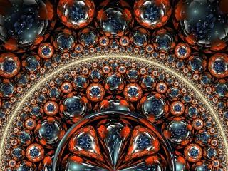Собирать пазл Circles and balls онлайн