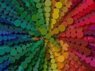 Собирать пазл Circular rainbow онлайн