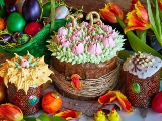 Собирать пазл Easter cakes онлайн