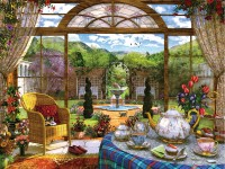 Собирать пазл Summer tea party онлайн