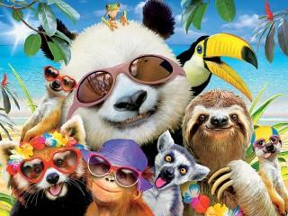 Собирать пазл Summer selfie онлайн