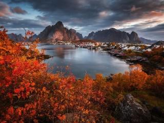 Собирать пазл The Lofoten Islands онлайн