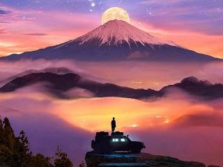Собирать пазл Moon silhouettes онлайн