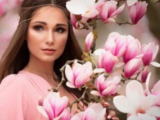 Собирать пазл Magnolia онлайн