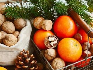 Собирать пазл Tangerines and orchids онлайн