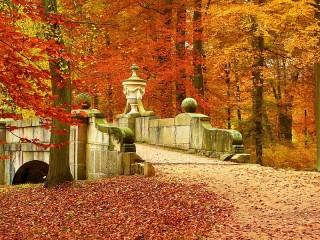 Собирать пазл Bridge in the park онлайн