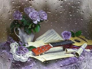 Собирать пазл Music of the rain онлайн