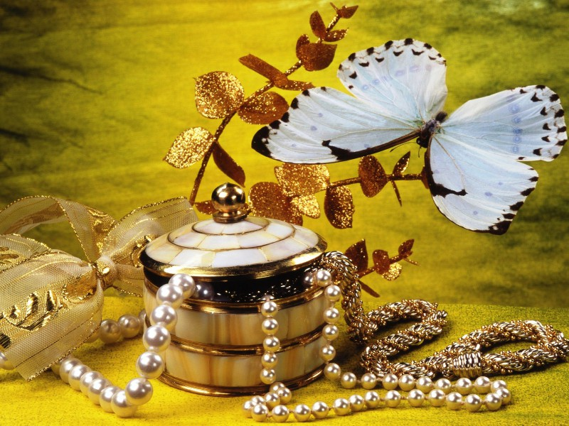 Puzzle Sammeln Puzzle Online - Still-life with butterfly
