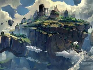 Собирать пазл Island in the sky онлайн