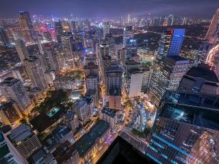 Собирать пазл Night metropolis онлайн