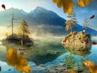 Собирать пазл Autumn wind онлайн