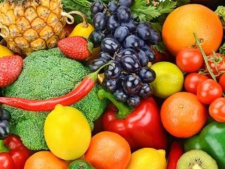 Собирать пазл Vegetables and fruits онлайн