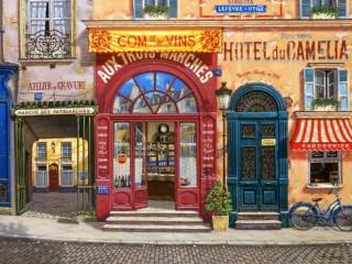 Собирать пазл Parisian street онлайн