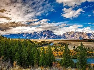 Собирать пазл Park Grand Teton онлайн