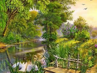 Собирать пазл Landscape онлайн