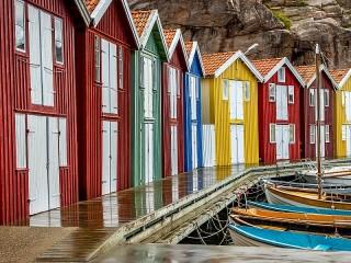 Собирать пазл Pier in Sweden онлайн
