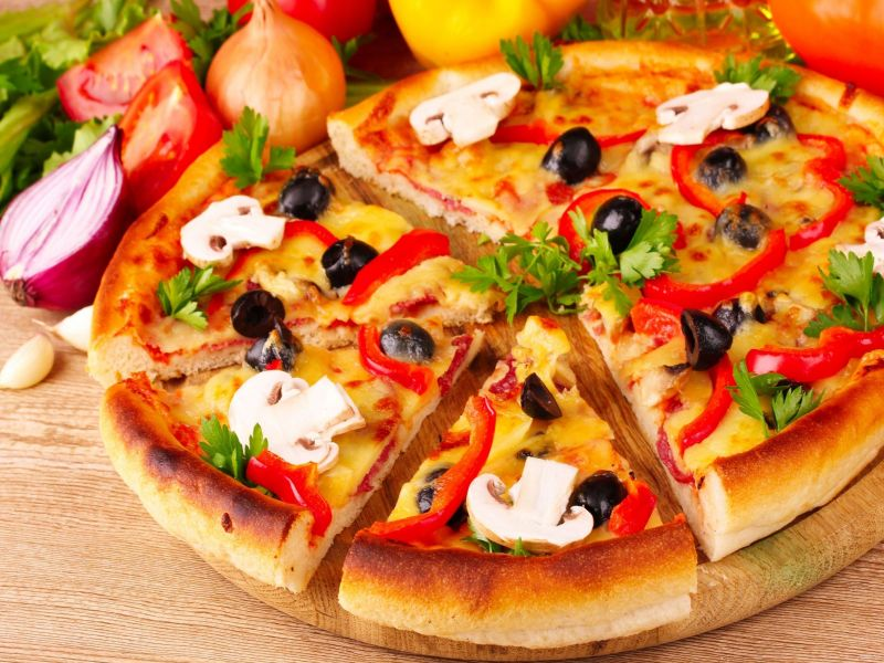 Puzzle Sammeln Puzzle Online - Pizza with mushrooms