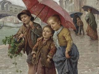 Собирать пазл Under the umbrella онлайн