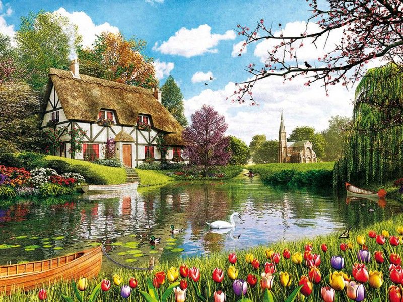 Puzzle Sammeln Puzzle Online - Tulips season