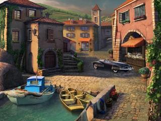 Собирать пазл Seaside town онлайн