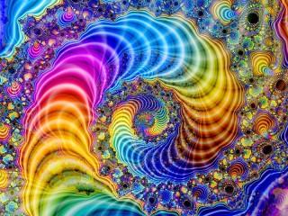 Собирать пазл Rainbow fractal онлайн