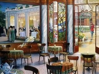 Собирать пазл Restaurant at underground онлайн