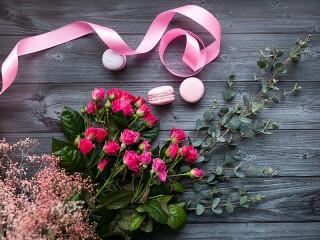 Собирать пазл Pink ribbon онлайн