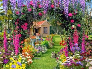 Собирать пазл Garden flowers онлайн