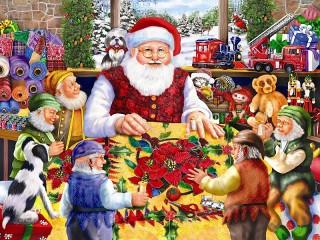 Собирать пазл Santa shet онлайн