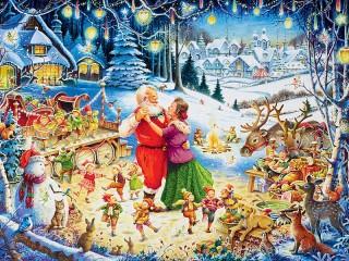 Собирать пазл Santa tantsuet онлайн