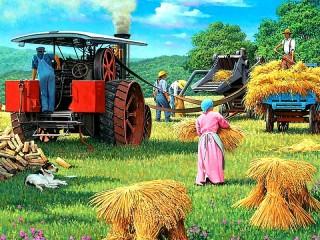Собирать пазл The harvest онлайн