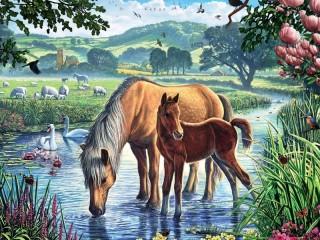 Собирать пазл Rural idyll 1 онлайн