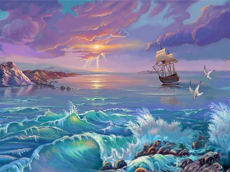 Puzzle Sammeln Puzzle Online - Storm on the sea