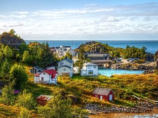 Собирать пазл Swedish landscape онлайн