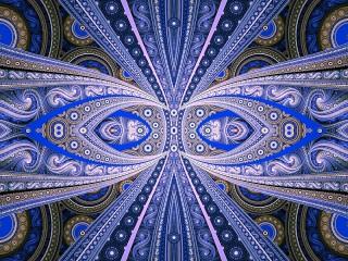 Собирать пазл Blue symmetry онлайн