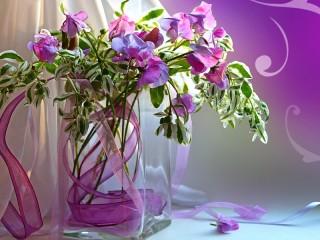 Собирать пазл Lilac still-life онлайн