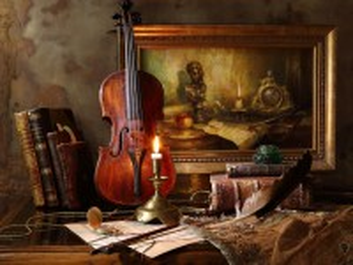 Собирать пазл Violin and candlestick онлайн